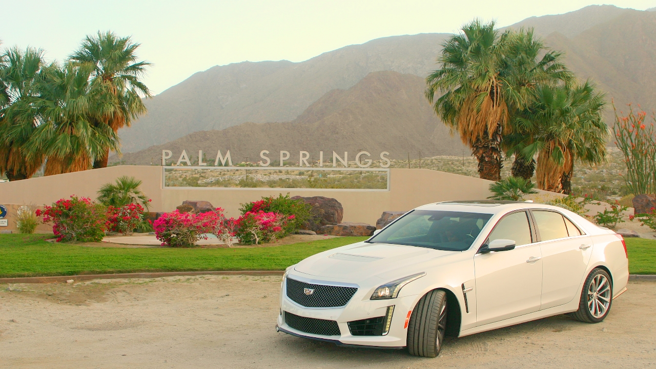 Cadillac CTS-V in Palm Springs