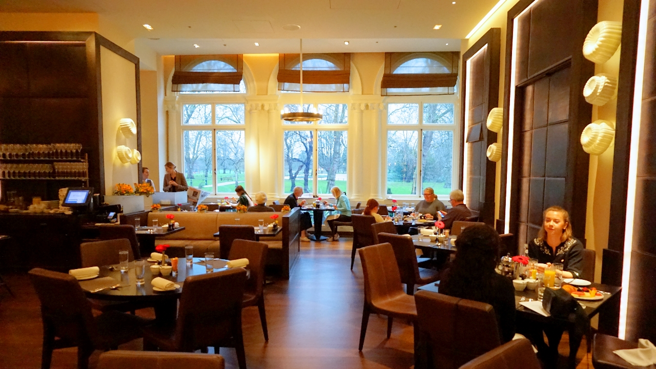 Dining room of Mandarin Oriental Hyde Park London