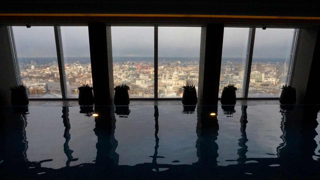 London view from Shard pool