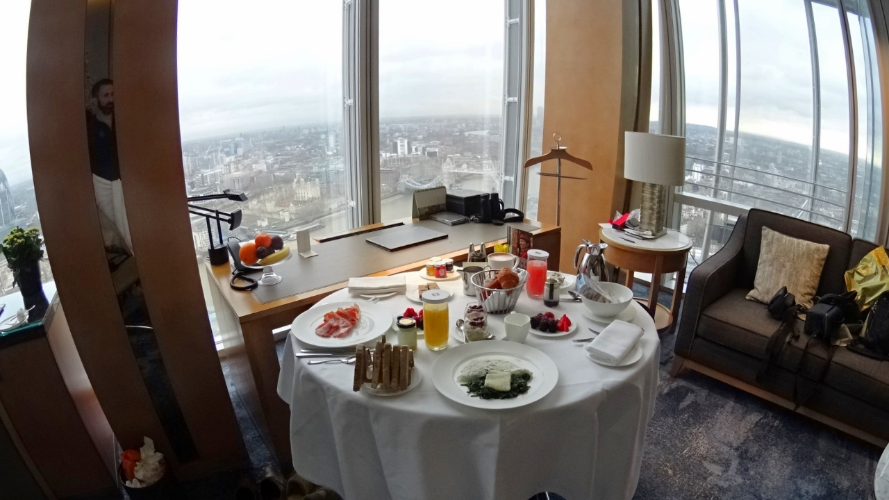 Room service at Shangri-La London