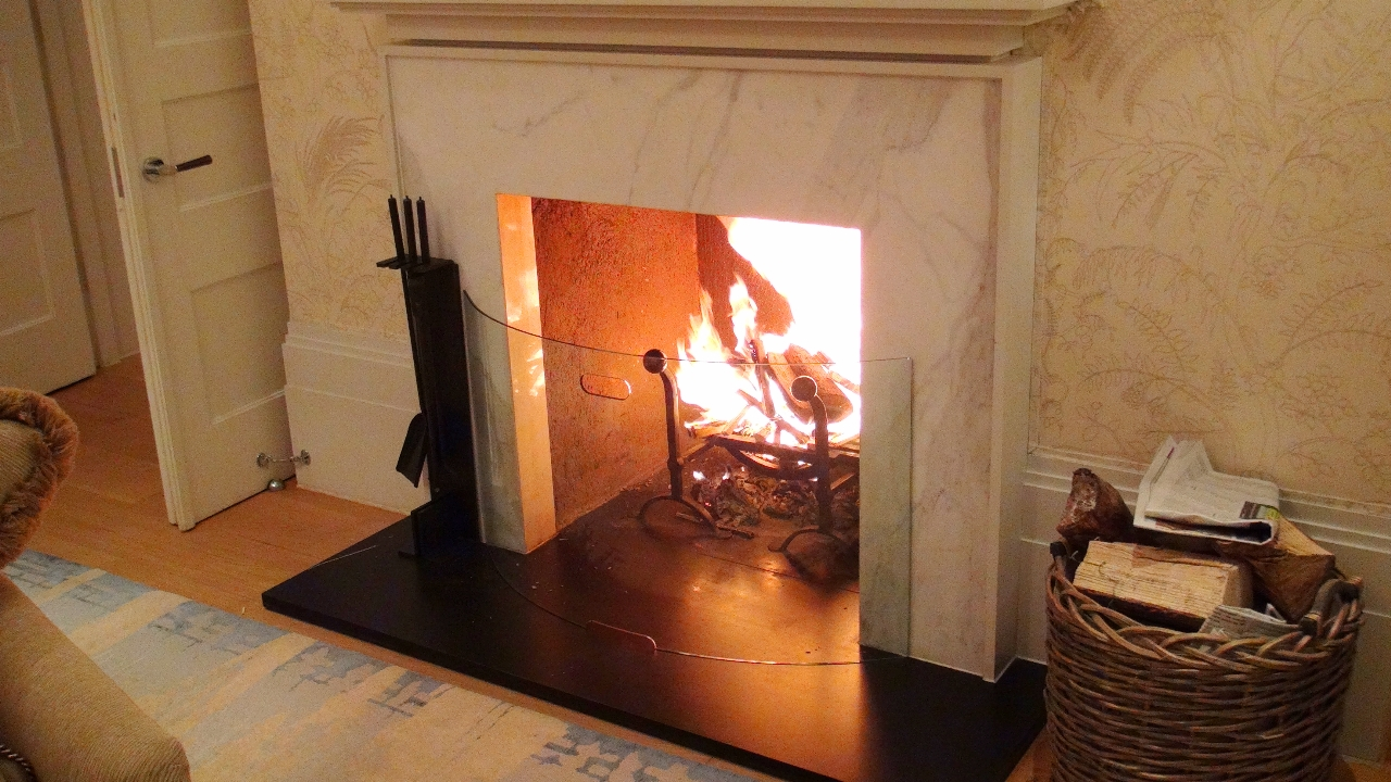 Fireplace at Coworth Park suite