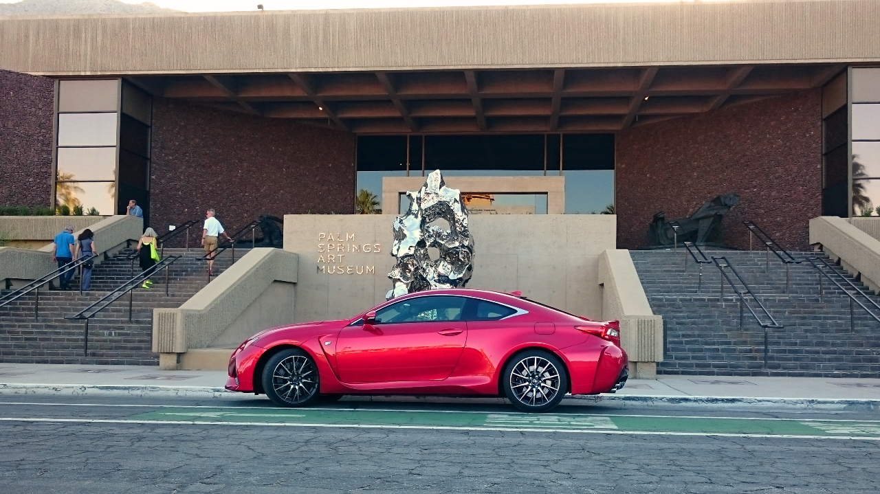 Lexus RC-F at Palm Springs Art Museum