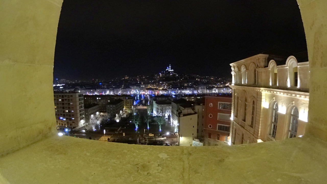 Night view of Marseille