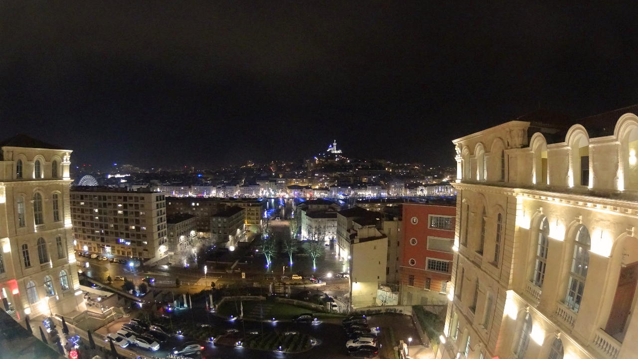 Night view from InterContinental Marseille