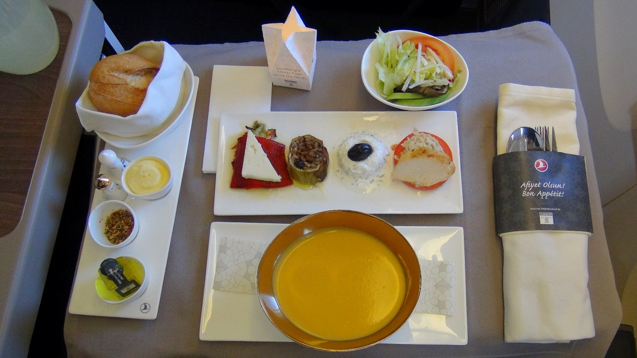 Turkish Airlines airplane food