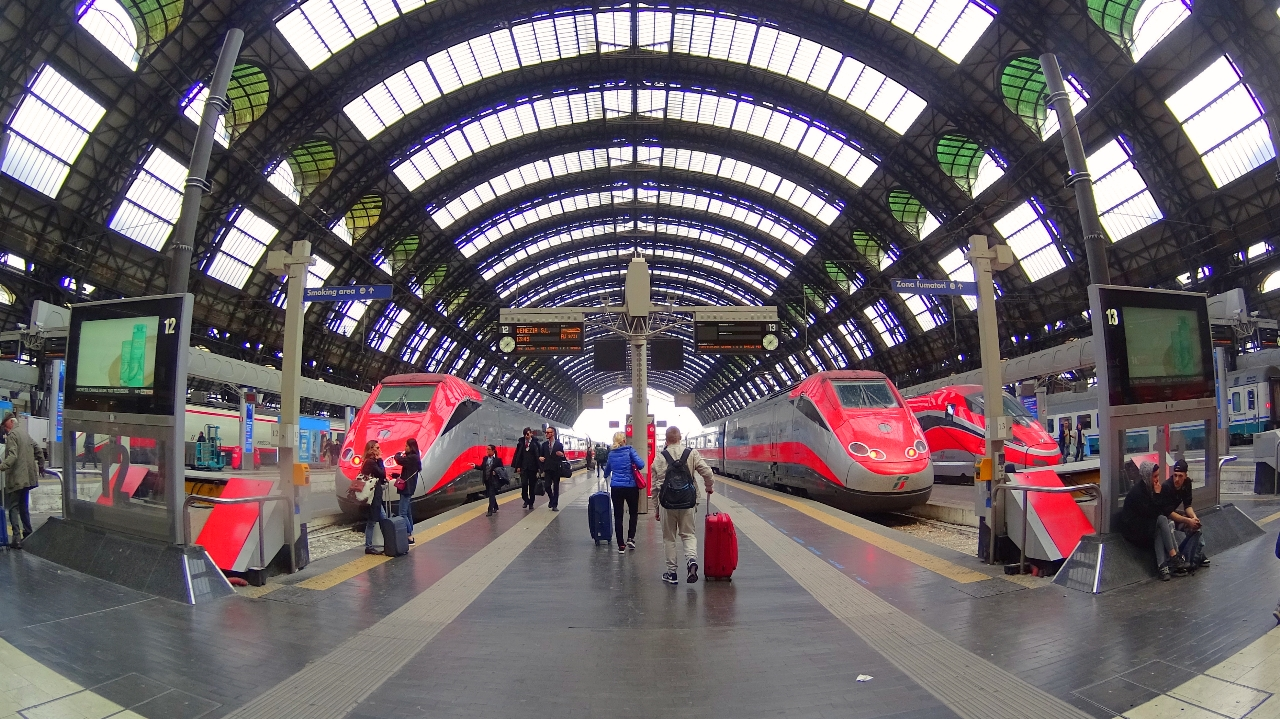 Trenitalia trains in Milan