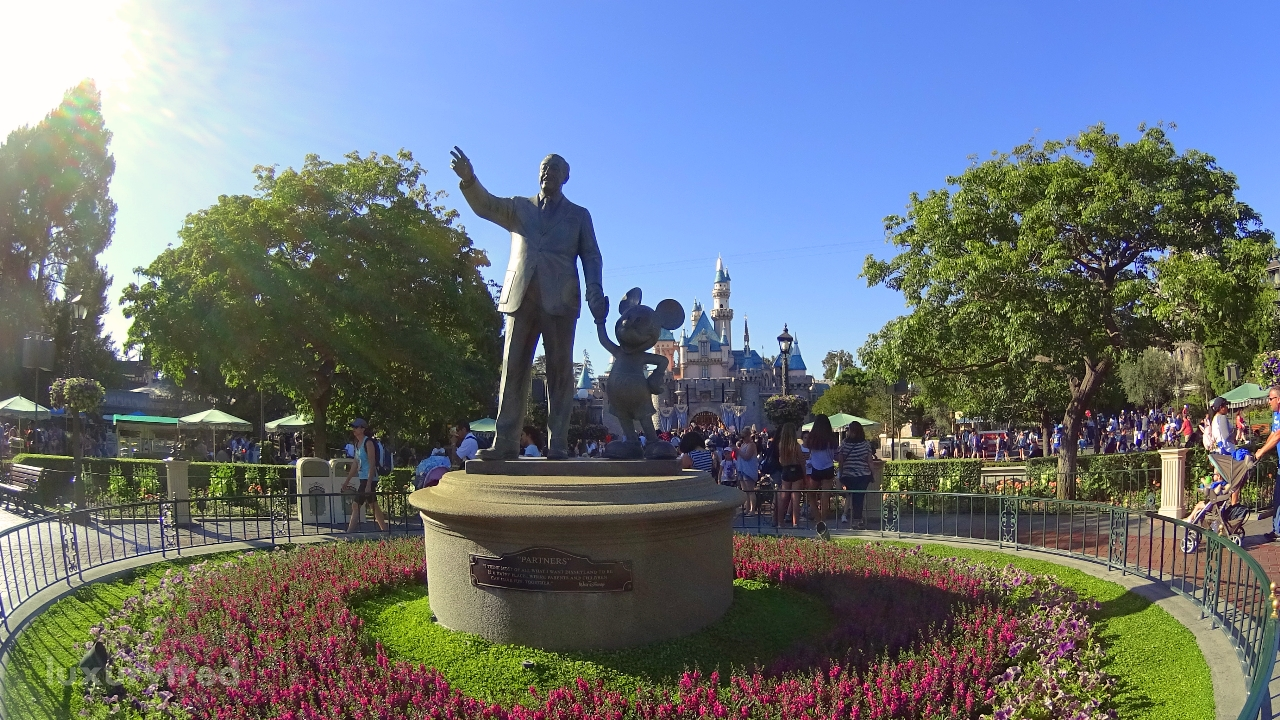 Walt and Mickey at Disneyland