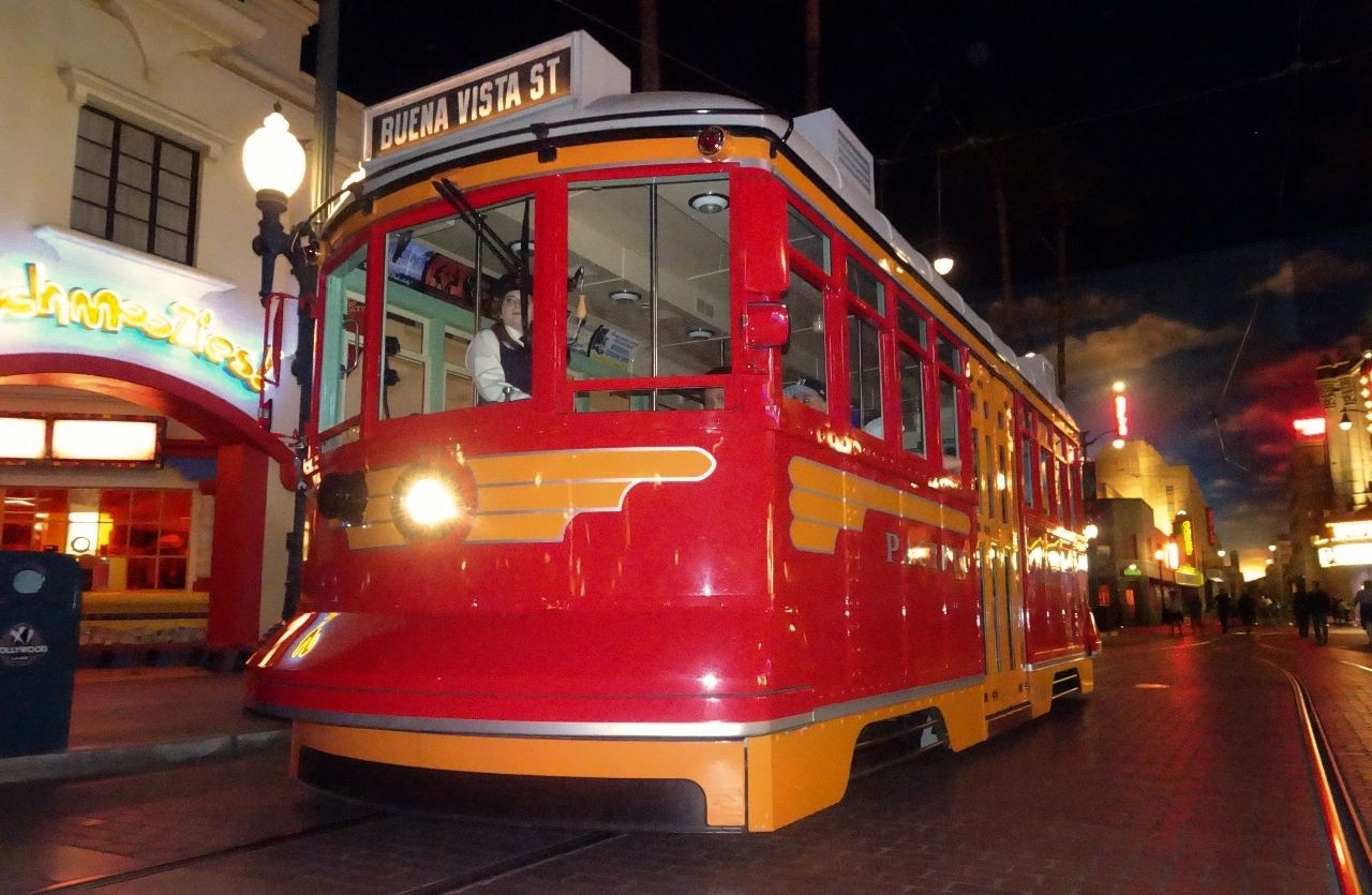 Trolley at disneyland